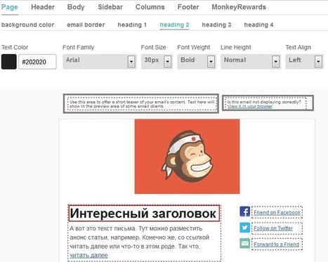 Как создать HTML email рассылку в MailChimp   Google Analytics   Scoop.it