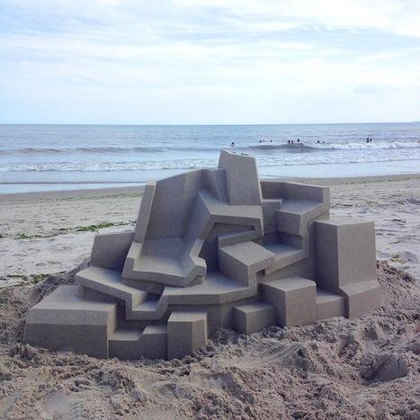 New Modernist Sandcastles Constructed by Calvin Seibert   Amazing art!   Scoop.it