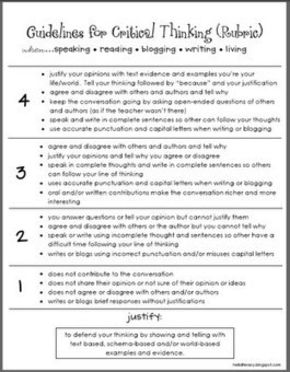 critical thinking rubric 2 | The Critical Analysis Process | Scoop.it