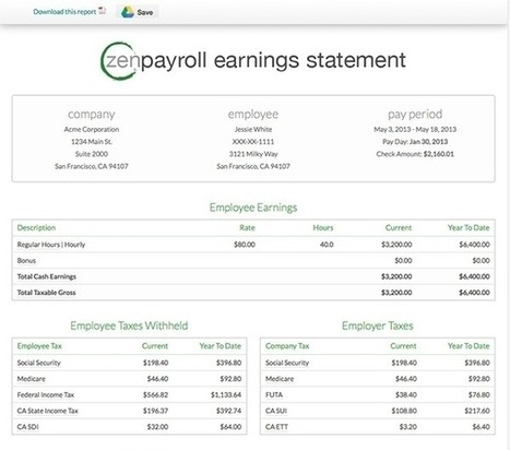 ZenPayroll Review - Peace Of Mind For Payroll Processing And Taxes | Best Smallbiz Apps | Scoop.it