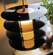 Old School Vinyl Records Recycled Into Nostalgic Retro Lamps | Digital-News on Scoop.it today | Scoop.it