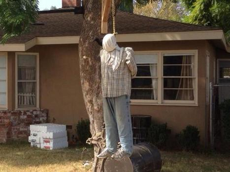 """HALLOWEEN """"LYNCHING"""" DECORATION SPARKS RACISM ALLEGATIONS 