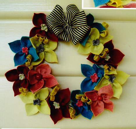 Tumbleweed - pretty felt floral wreath PATTERN - May Blossom | Education | Scoop.it