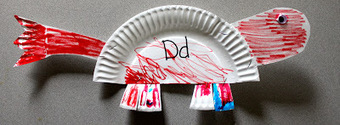 The Activity Mom: Paper Plate Alphabet Craft - D is for Dinosaur | Literacia no Jardim de Infância | Scoop.it