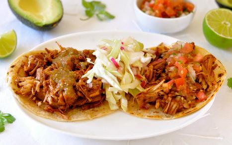 Jackfruit Tacos with Roasted Tomato Salsa & Coleslaw | Vegan Food | Scoop.it