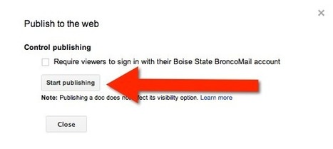 Publish Your Google Docs to the Web | Using Google Drive in the classroom | Scoop.it
