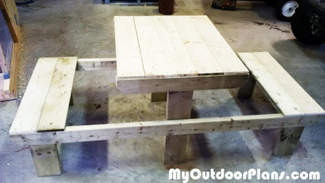 DIY Two Person Picnic Table | MyOutdoorPlans | Free Woodworking Plans and Projects, DIY Shed, Wooden Playhouse, Pergola, Bbq | Garden Plans | Scoop.it