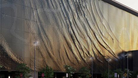 brisbane airport kinetic parking garage facade by ned kahn + UAP - designboom | Interior & Decor | Scoop.it