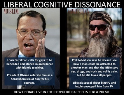 Liberal Cognitive Dissonance and Hypocrisy... | Littlebytesnews Christianity-Catholics-Religious Liberty | Scoop.it