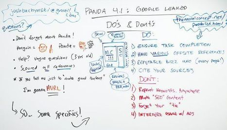 Panda 4.1 Google Leaked Dos and Don'ts - Whiteboard Friday | On Line Marketing | Scoop.it