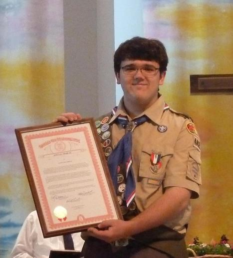 DEXTER: High School student awarded the rank of Eagle Scout - Heritage Newspapers   Eagle Scout Project   Scoop.it