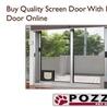 Screen Door With Dog Door
