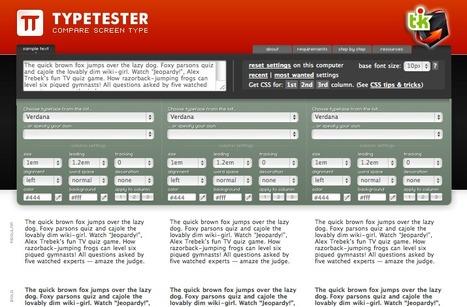 Typetester, un comparateur typographique en ligne | Ce qui m'intéresse | Scoop.it
