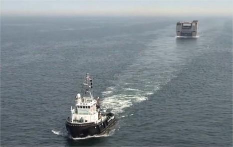 La poupe du 2e BPC russe fait des ronds dans l'eau devant Saint-Nazaire   Veille Domaine Naval   Scoop.it