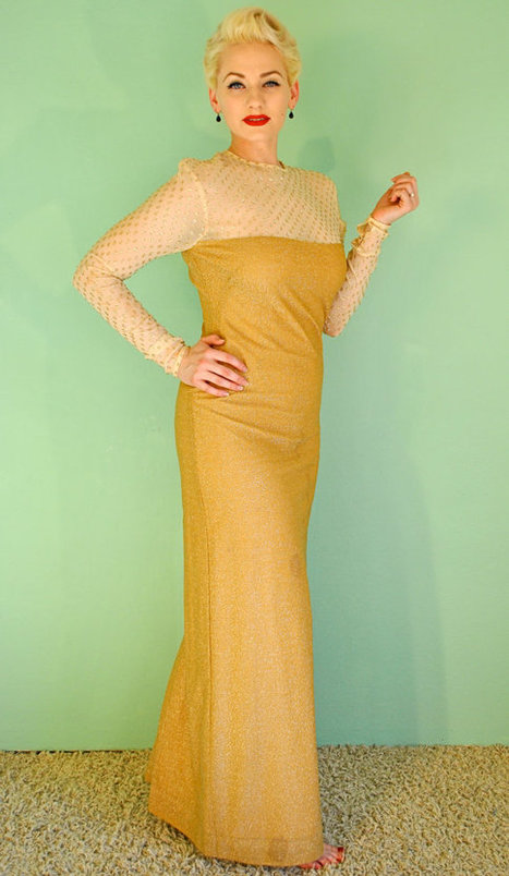 Vintage Lurex Gold Gown | new tech Henry | Scoop.it