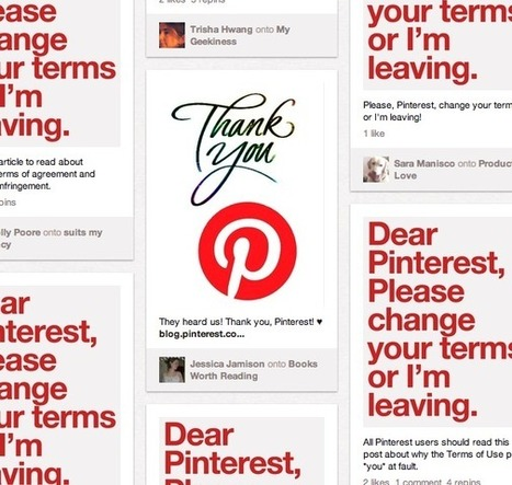 Pinterest updates Terms of Service | Everything Pinterest | Scoop.it