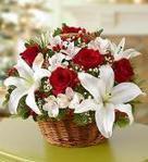Send Amazing Christmas Flowers Arrangements to USA | Christmas Floral Arrangements in basket or Bouquets. | Scoop.it