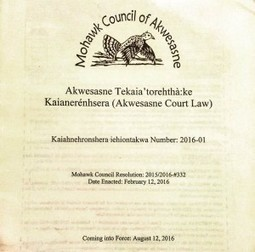 "A Few Words on the Tekaia'torehthà:ke Kaianerenhsera (Akwesasne Court Law) to Commemorate the ""Birthday"" of the Akwesasne Mohawk Court 