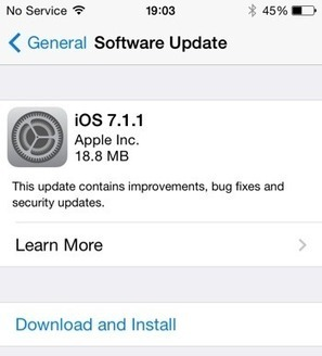 #Update asap! Apple releases iOS 7.1.1 | Apple, Mac, iOS4, iPad, iPhone and (in)security... | Scoop.it