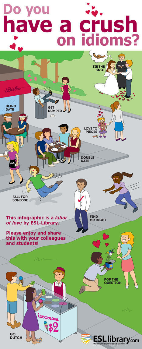 Infographic for Valentine's Day: Love Idioms | ESL Library Blog | the Welcome to English Project | Scoop.it