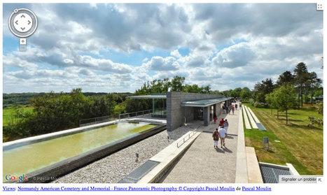 Normandy American Cemetery and Memorial, Colleville-sur-Mer - France par Pascal Moulin sur Google Maps | normandie360panoramic | Scoop.it