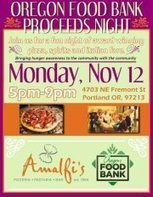 Oregon Food Bank Proceeds Night at Amalfi's! | Facebook | Marketing Planning and Strategy | Scoop.it