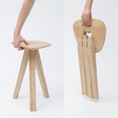 """Jack Smith réalise son """"Folding Stool"""" à l'aide de charnières et d'assemblages par emboîtement (via dezeen)   inoow design lab   Scoop.it"""