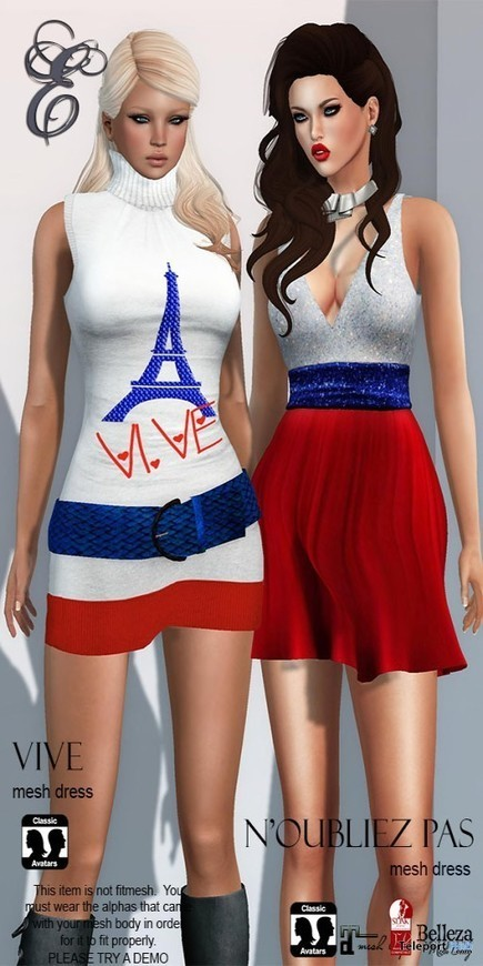 Peace For Paris Dresses Group Gift by Entice | Teleport Hub - Second Life Freebies | Second Life Freebies | Scoop.it