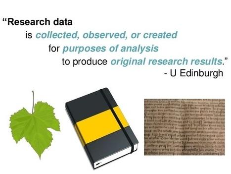 Informe sobre la publicación de datos de investigación en Humanidades | Educación a Distancia y TIC | Scoop.it
