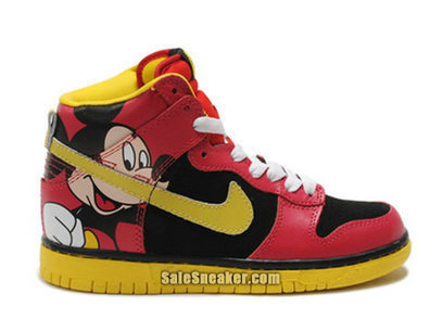 Nike Dunk Mickey Mouse Red Cartoon shoes | Custom Cartoon Dunks | Scoop.it