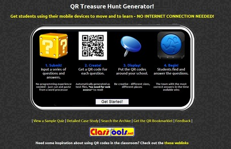 QR Code Treasure Hunt Generator from classtools.net | formation 2.0 | Scoop.it