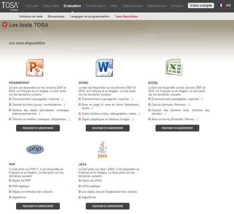 Test Excel, Word, Powerpoint gratuits - Test en ligne PHP et JAVA | Time to Learn | Scoop.it