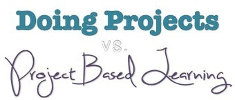 "Useful chart detailing the Difference Between ""Doing Projects"" and ""Project Based Learning""? 