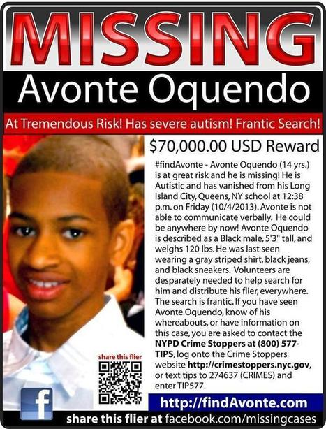 Avonte Oquendo Missing Update: NYPD To Blast Voice Of Autistic, Mute Teen's Mother Hoping 14-Year-Old NYC Boy Will Hear It [PHOTO] | New York Personal Injury News | Scoop.it