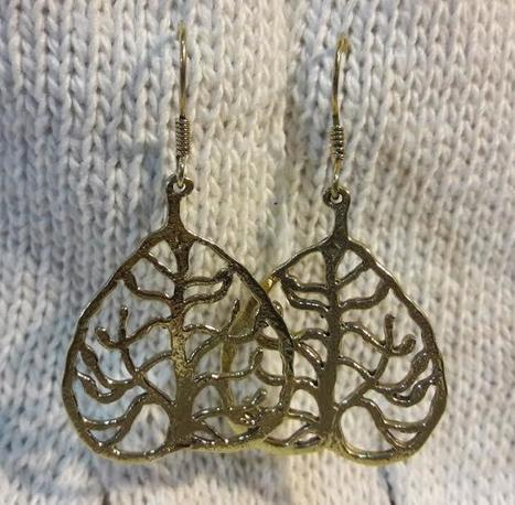 fair trade Cambodia.Recycled brass bomb shell tree of life earrings, ethically handmade by disadvantaged home based workers. www.craftworkscambodia.com   Handmade Cambodia   Scoop.it
