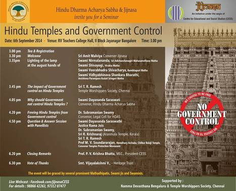 Hindu Temples and Govt Control #bangalore | South Social Stage : #Bangalore | Scoop.it
