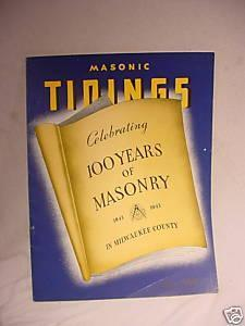 1943 Masonic Tidings Booklet Milwaukee Wi Pix Ads 90 Pg | Antiques & Vintage Collectibles | Scoop.it