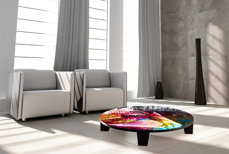 Beautiful art coffee tables fit for a gallery | The Artwork Factory | Scoop.it