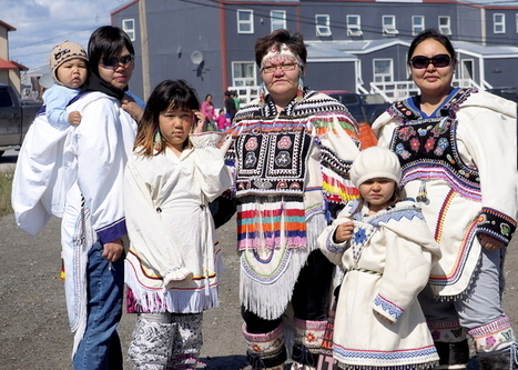 Ittinuar family from Rankin Inlet wore their traditional beaded amautiit at the Nunavut Day celebrations | Inuit Nunangat Stories | Scoop.it