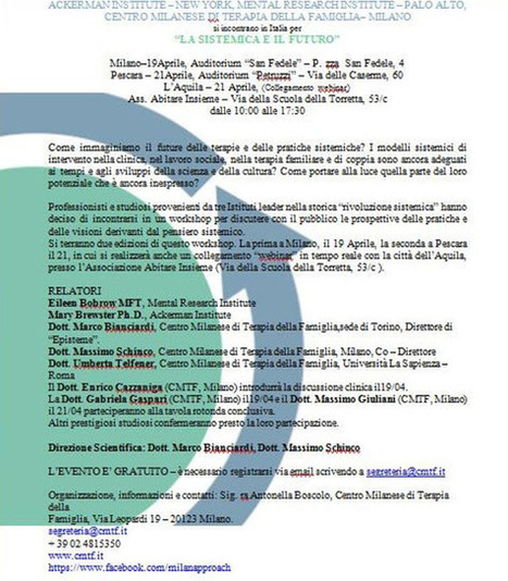 SEMINARIO GRATUITO - Ivana Siena Psicoterapeuta | Psicologia Integrata | Scoop.it