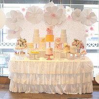 A Pretty in Pink and Gold First Birthday Party With Cakes Galore - PopSugar.com | birthday ideas | Scoop.it