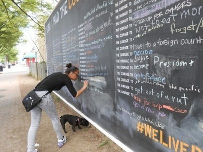 A giant blackboard on a city street is encouraging strangers to share their ... - Washington Post | Encouraging Stories | Scoop.it