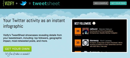 Vizify TweetSheet - Create an Infographic from you Tweets | Education Technology - theory & practice | Scoop.it