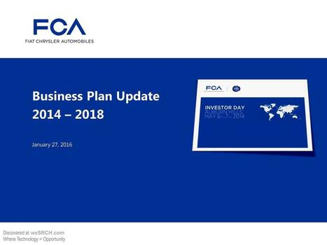 FCA Performance To Plan, Business | wesrch | Scoop.it