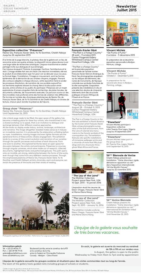 Newsletter Juillet 2015 /// Galerie Cécile Fakhoury - Abidjan   Galerie Cécile Fakhoury - Abidjan   Scoop.it
