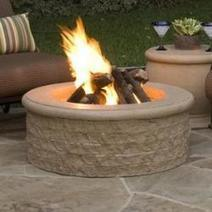 Round Chiseled Cast Stone Fire Pit | Fireplace Glass Doors | Scoop.it