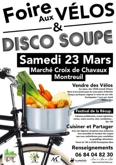 Disco Soupe party à Montreuil le 23 mars 2013 | Blog mediapart | Parisian'East, la communauté urbaine des amoureux de l'Est Parisien. | Scoop.it