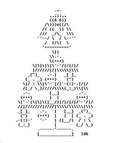 Christmas ASCII Art | ASCII Art | Scoop.it