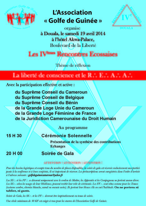 IVèmes rencontres Ecossaises de Douala   L'actualité maçonnique   Scoop.it