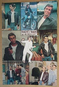 The Fonz Happy Days Poster 1976 | Kitsch | Scoop.it